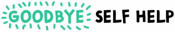 Goodbye Self Help text logo colourful