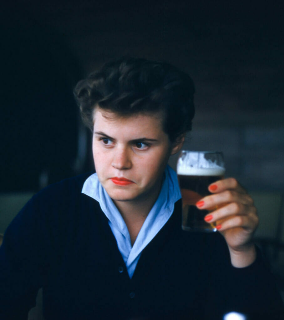 man holding a drink